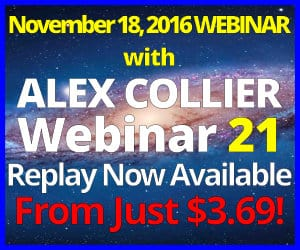 Alex Collier's TWENTY-FIRST Webinar *REPLAY* - November 18, 2016!