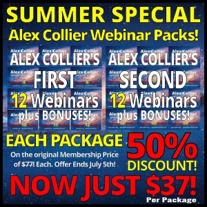 Alex Collier - Summer Sale - Webinar Packages - Just $37 - Until July 5, 2017!
