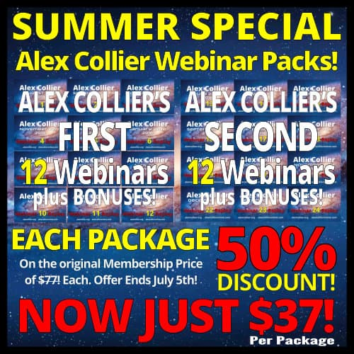 Alex Collier - Summer Special - Webinar Packages - Just $37! Until July 5, 2017